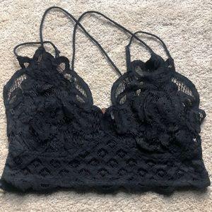 🌟free People Adella Black lace Bralette medium